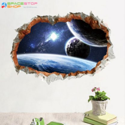 Outer Space Planet Wall Sticker 3D Effect